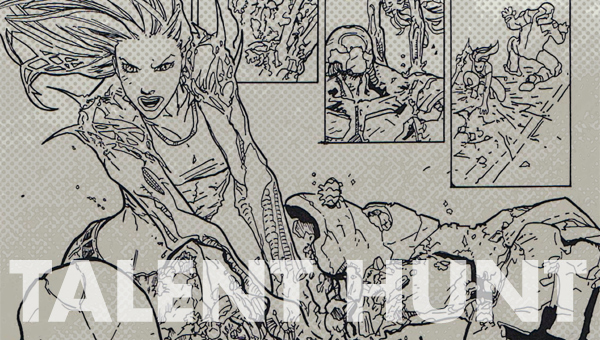 Mark W. Slater inks over Francis Manapul's pencils